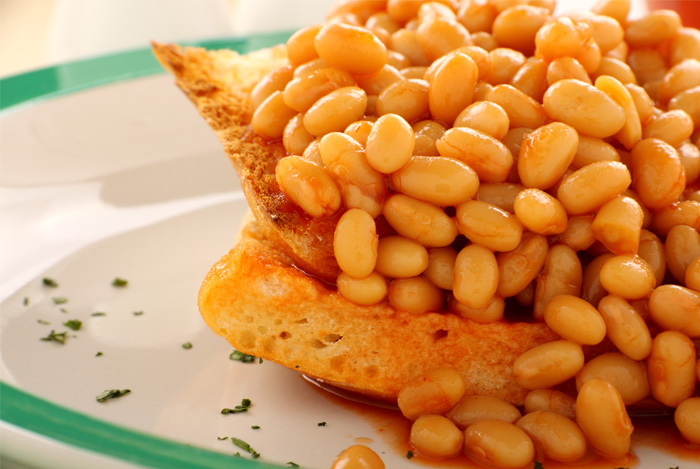 baked beans toast plate