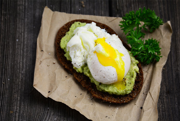 eggs avocado toast