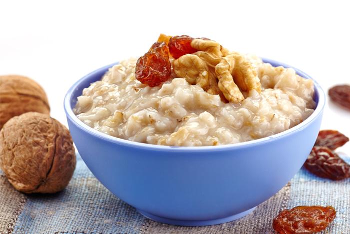oats walnuts bowl