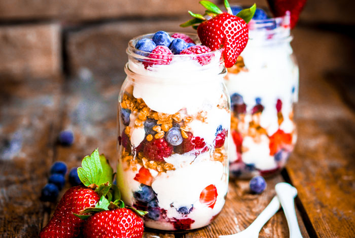jar yogurt berries