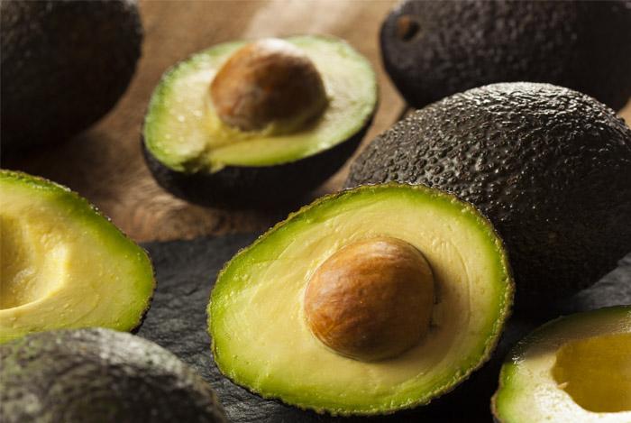 avocado cut open