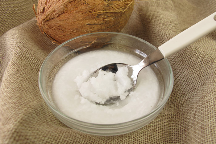 coconut oil spoon bowl