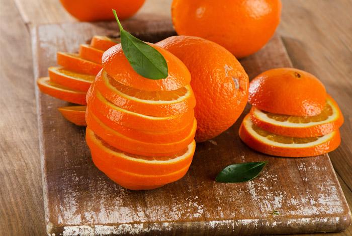 orange slices board