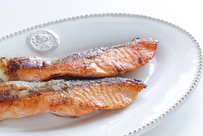 salmon fillets cooked