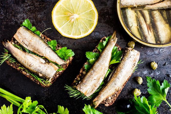 sardines lemon