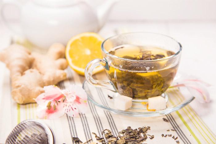 tea ginger lemon mint