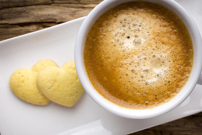 coffee heart cookies lower cancer