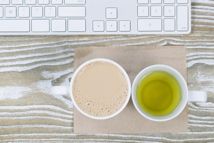 coffee vs green tea cups