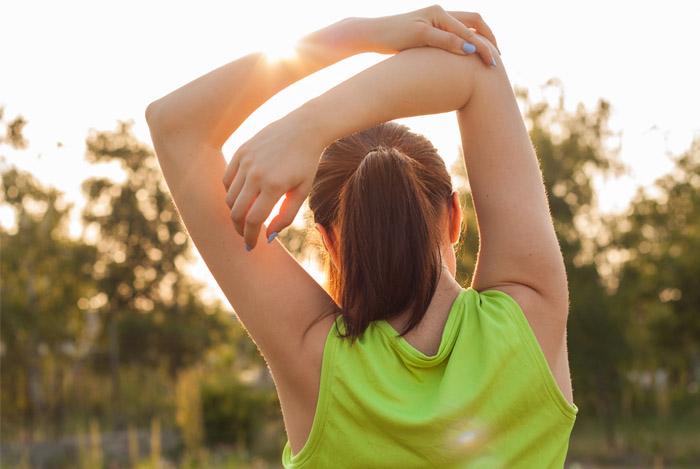 healthy woman in sun