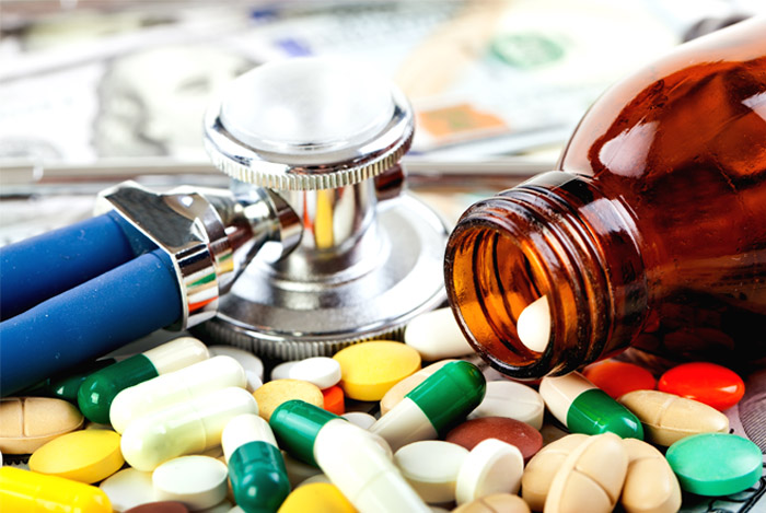 antibiotics bottle doctor