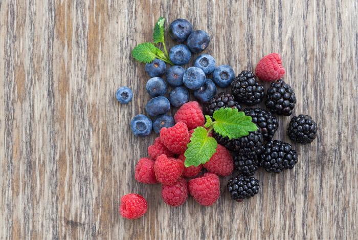 rasberries blueberries blackberries