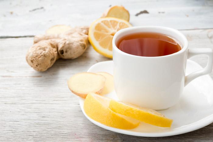 ginger tea lemon expectorant