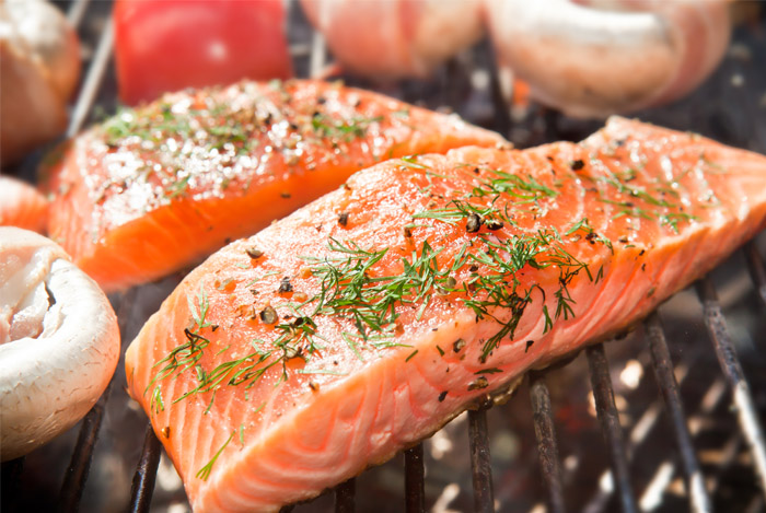 grilled salmon fillets