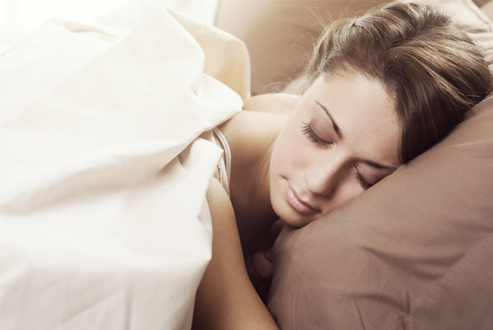 sleeping woman bed