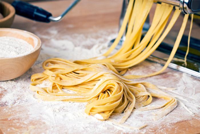 white flour pasta