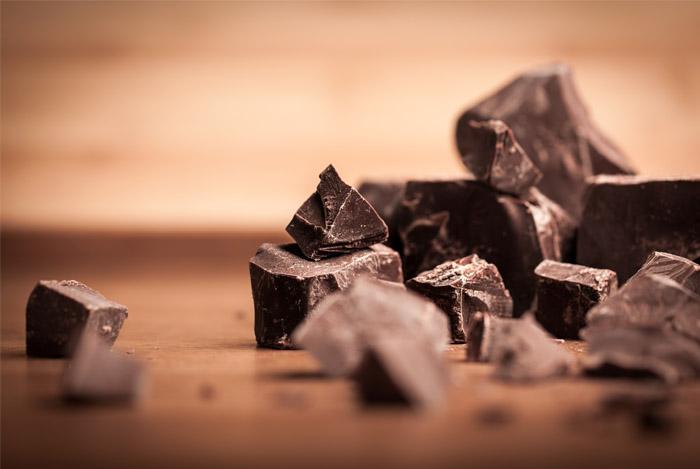 crumbled dark chocolate