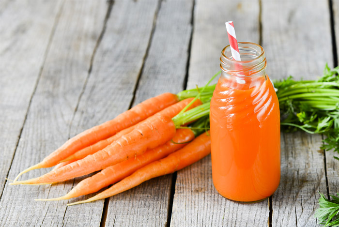 carrots juice bottle