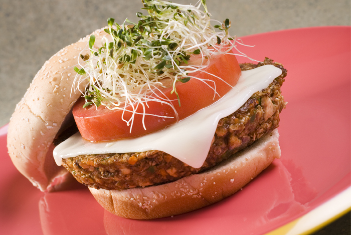 Tofu Burger with Tahini