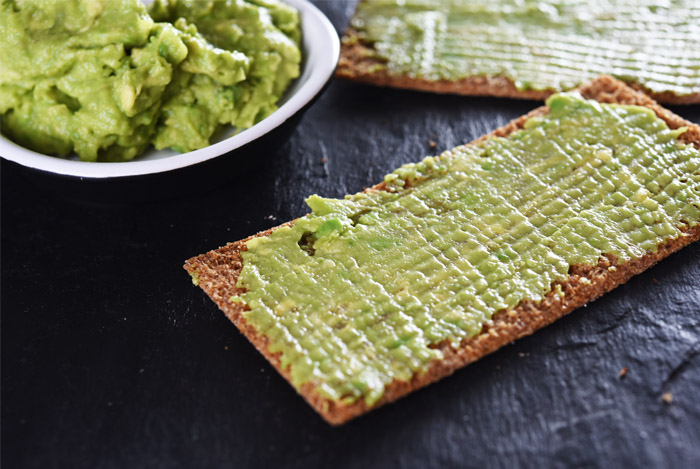 avocado on crackers
