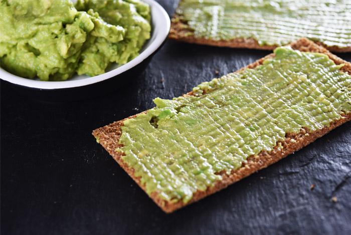 avocado on crackers