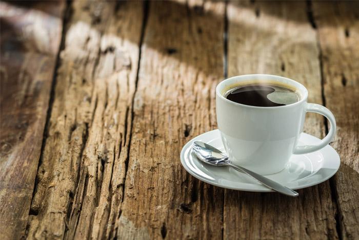 drink black coffee