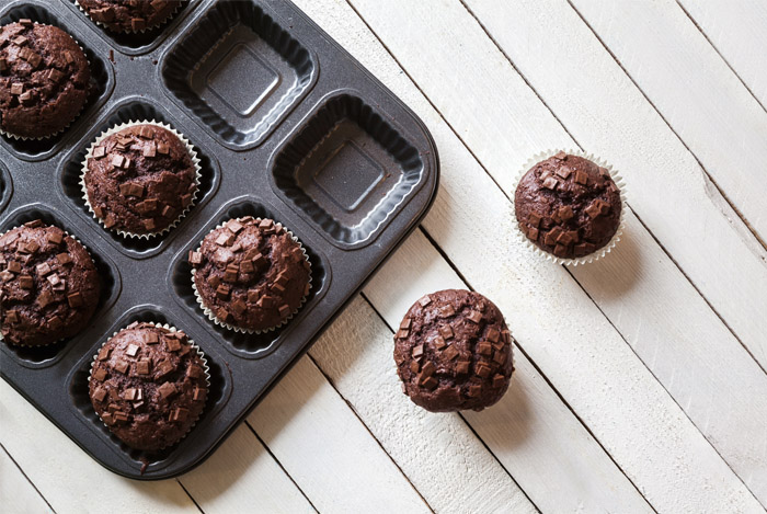 Gluten Free, Flourless Black Bean Brownie Muffins