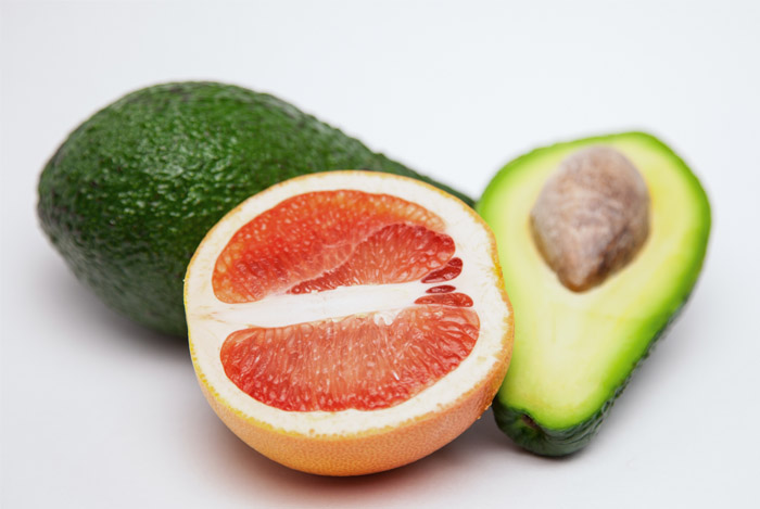Avocado and Grapefruit Salad with Edamame