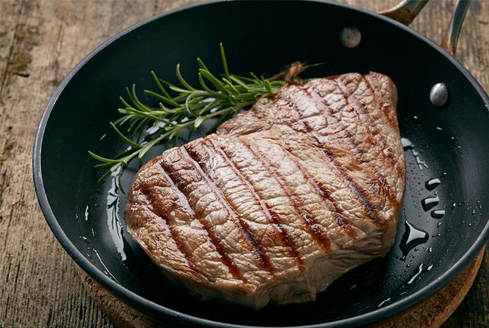 Sirloin Steak with Mushroom Sauce and Chive-Garlic Potatoes